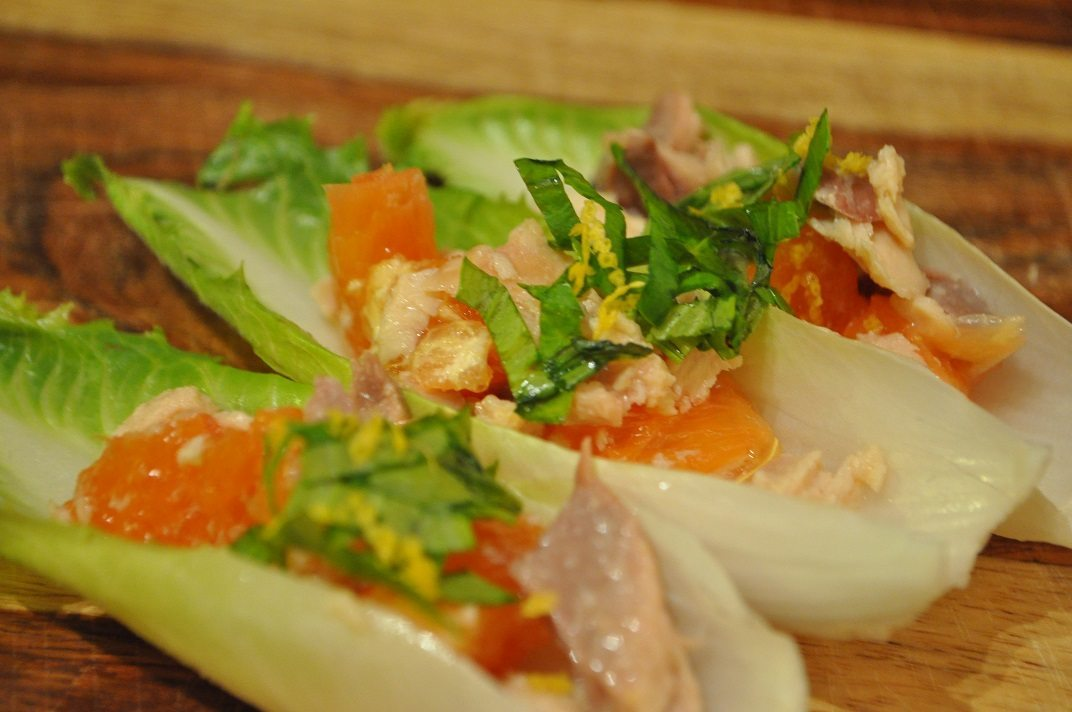 Smoked salmon and endive